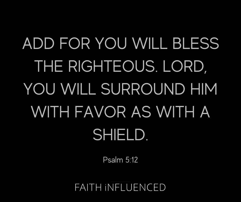 Psalm 5:12 Bible Verse