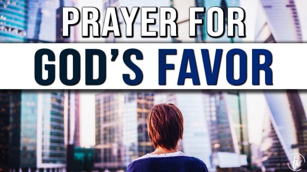 prayer for god's favor